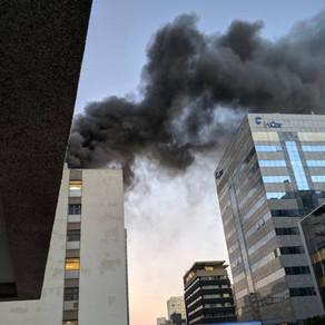 Incêndio atinge o Hospital do Coração, em São Paulo