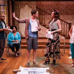 As Kathy (center R) in Clybourne Park