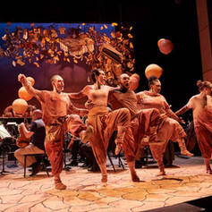 Dancing (2nd from L) in The Good Peaches