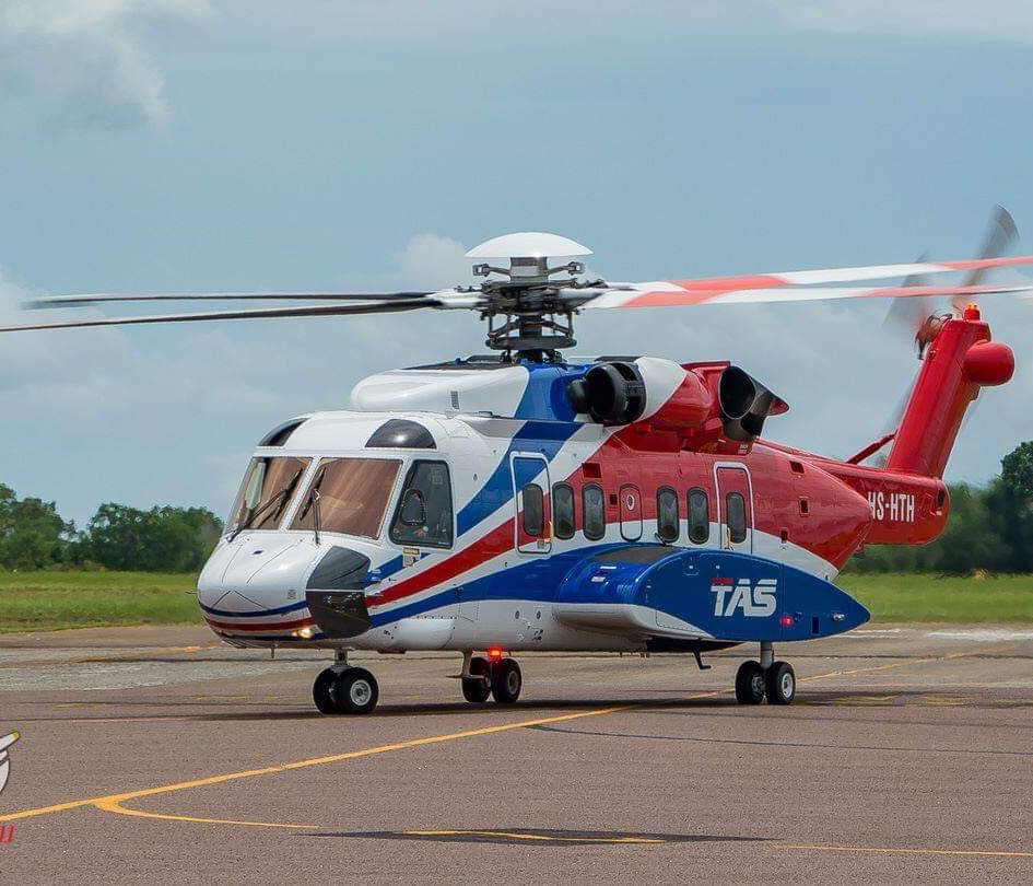 Thai Aviation Service Sikorsky S-92A HS-HTH that ProRotor's aircraft refurbishment team completed.
