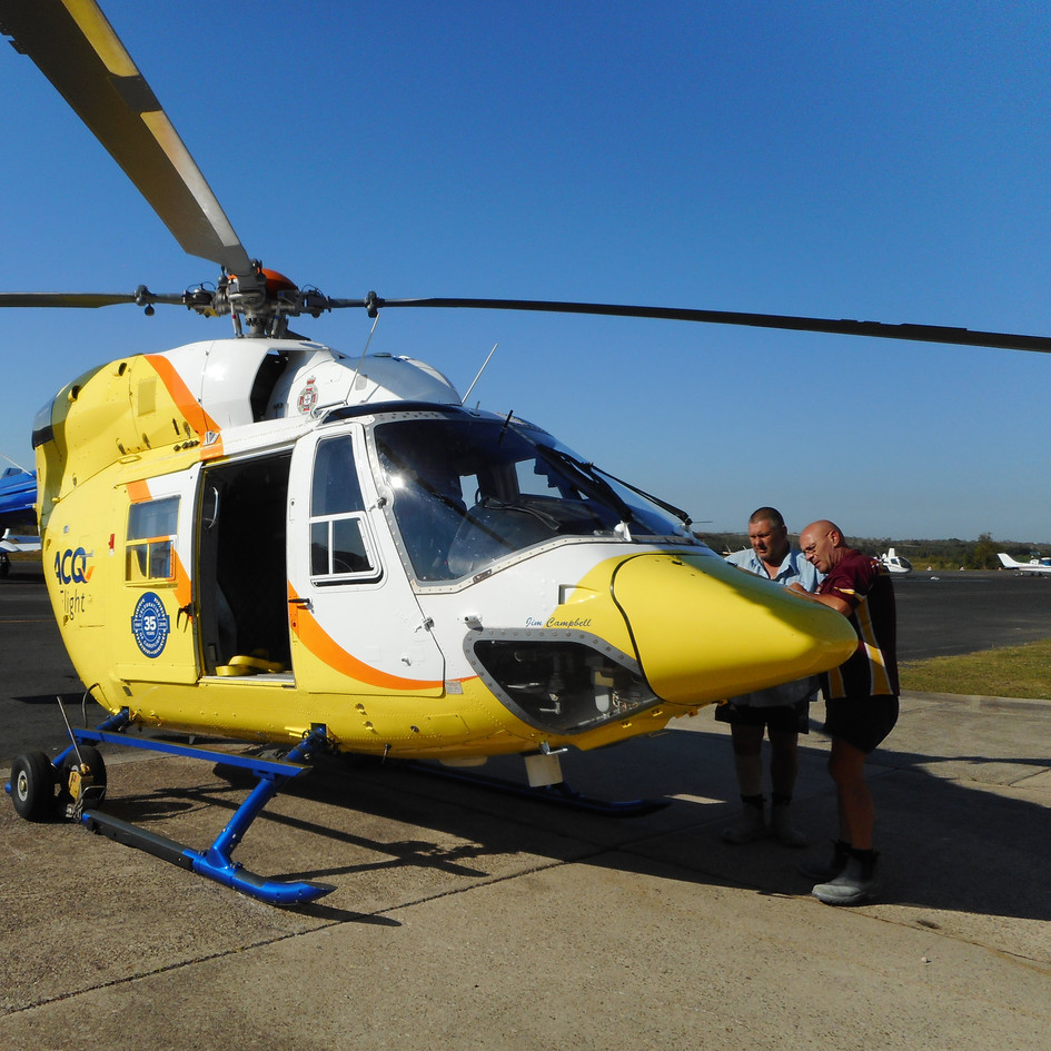 LifeFlight Rescue Helicopter freshly painted by our resurfacing team.