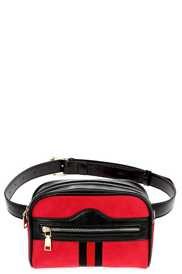Red belt purse