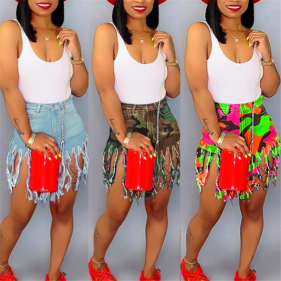 Don't Touch My Bunz Tassel Shorts