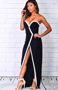 Sexy Black and White Maxi Dress