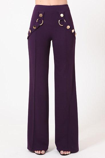 Pleasantly Plum High Waisted Pants