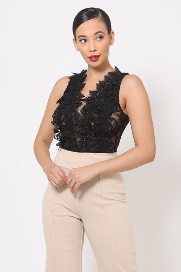 Vicky Secret Lace Bodysuit