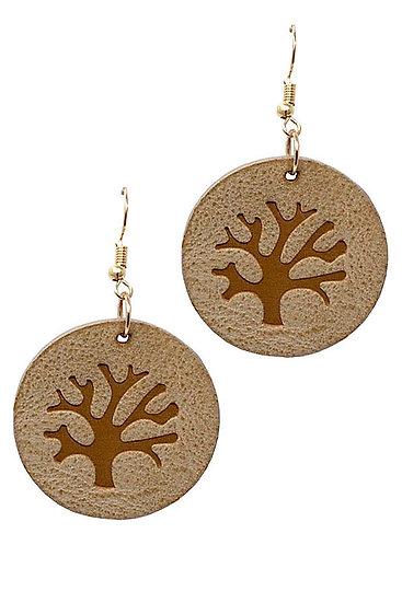 Brown Tree Earrings