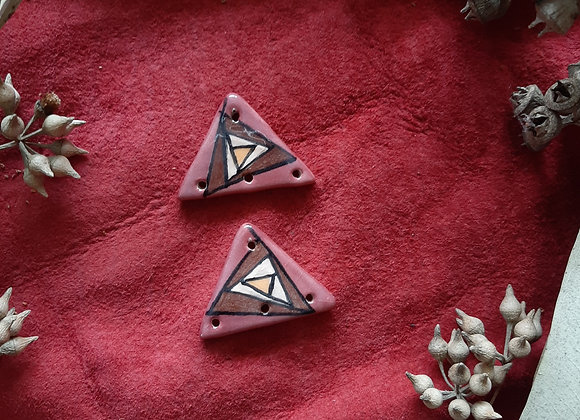 Geometric Pattern Connector Beads