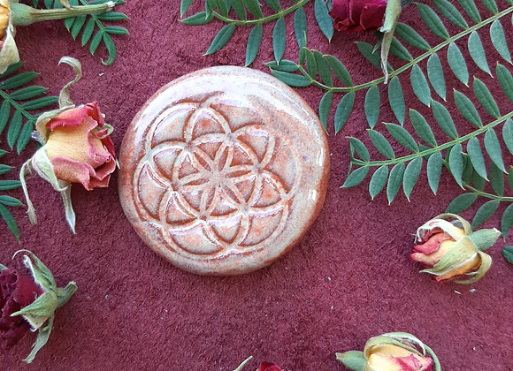 Round Seed of Life Cabochon
