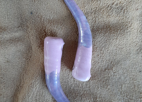 Ivory Shaped Rose and African Purple Pendant Beads