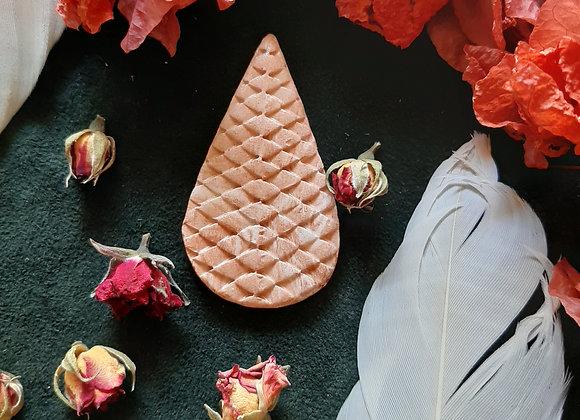 Ceramic Marble Effect Snake Skin Cabochon Bead