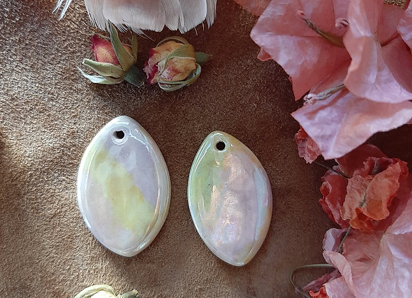 Pastel Colors Holographic Effect Pendant Beads