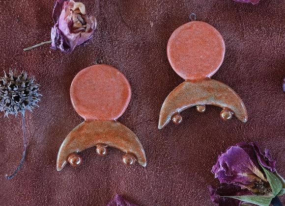 Handmade Ceramic Goddess Pendant Beads