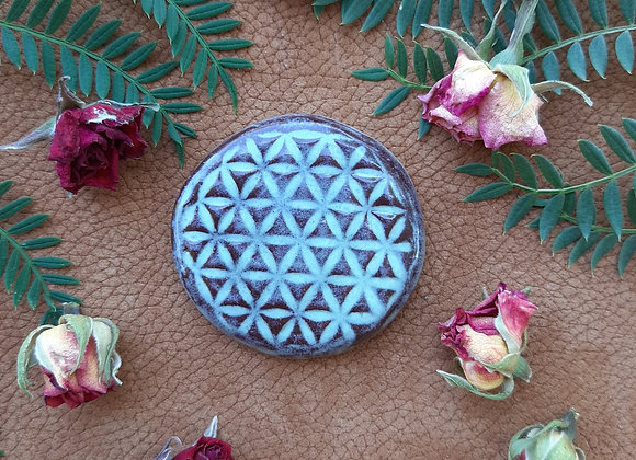 Round Flower of Life Cabochon