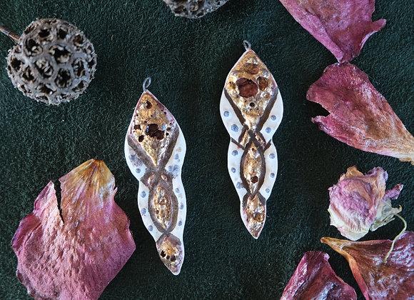 Ceramic Raku Fired Pendant Beads