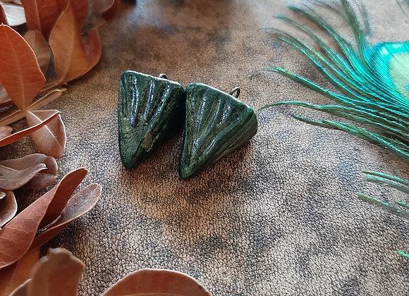 Textured, Raku Fired Pendulum Beads