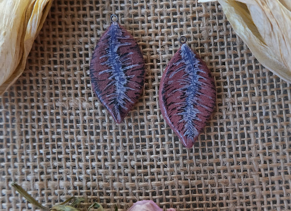 Hand Painted Feather Beads