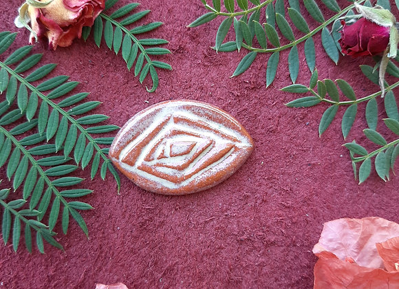 Terracota Cabochon Bead