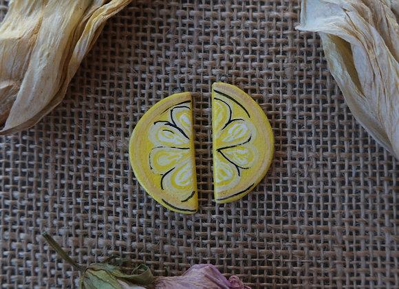 Lemon Charm Beads