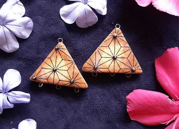 Sacred Geometry Patterned 3d Black Dots With 24k Gold