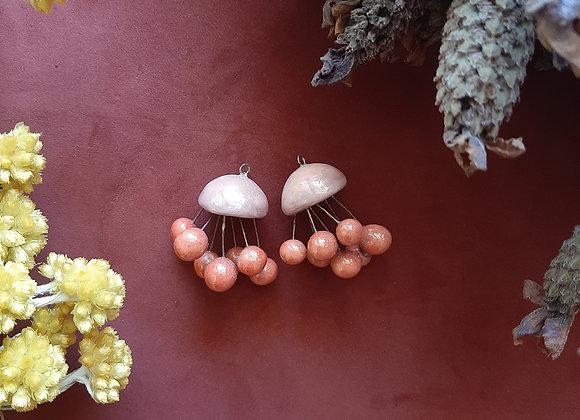 Shiny Pink Jellyfish Beads