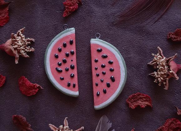 A Slice of Watermelon Pendant Beads