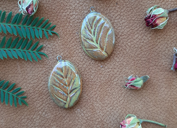 Leaf Carved Pandant Beads