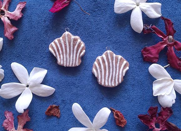 Holographic Effect Seashell Pendant Beads