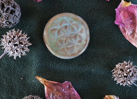 Ceramic Seed of Life Cabochon