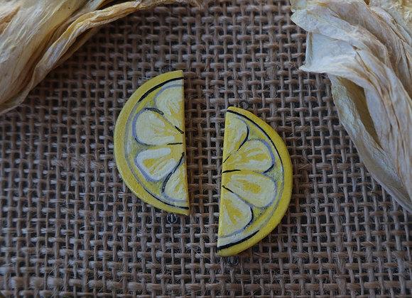 Lemon Connector Beads
