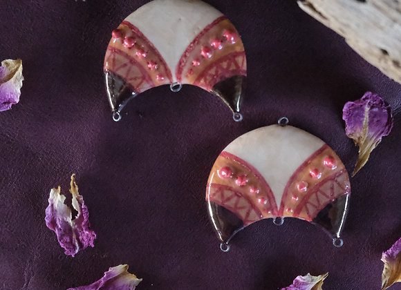 Crescent Tribal Connector Beads