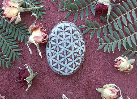 Oval Flower of Life Cabochon