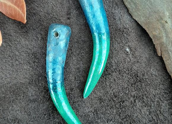 Ivory Formed  Fern to Glitter Degrade Beads