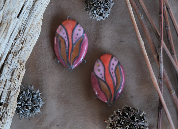 Ceramic Tribal Connector Beads