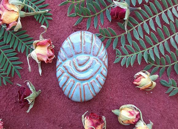 Ceramic Turquoise Eye Cabochon
