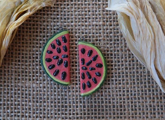 Watermelon Connector Beads
