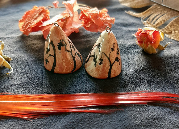 Cone Shaped Kaguya Connector Beads