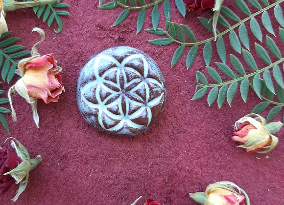 Seed of Life Terracota Cabochon