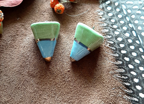 Green and Blue Pendulum beads