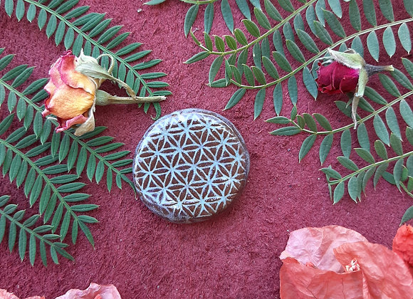 Terracota Flower of Life Cabochon