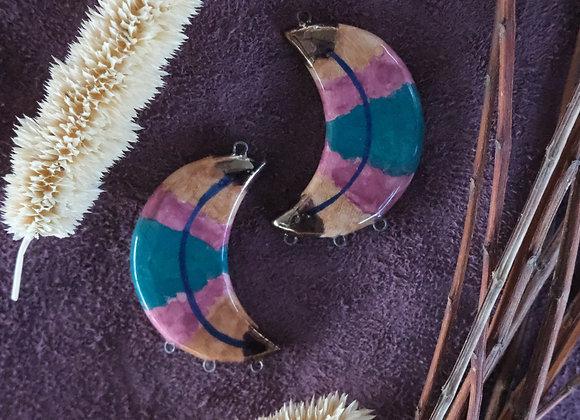 Crescent Retro Connector Beads