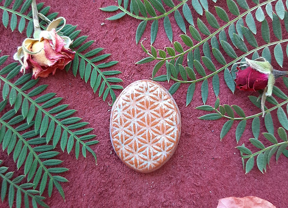 Flower of Life Terracota Cabochon