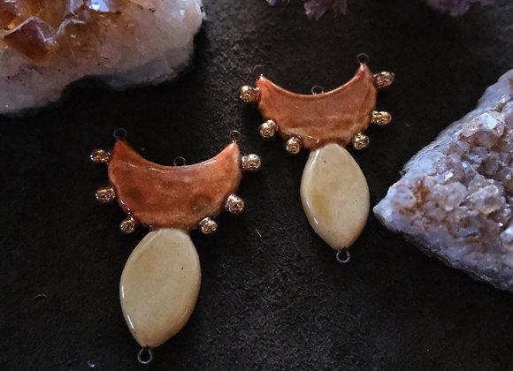 Ceramic Goddess Inspired Connector Beads
