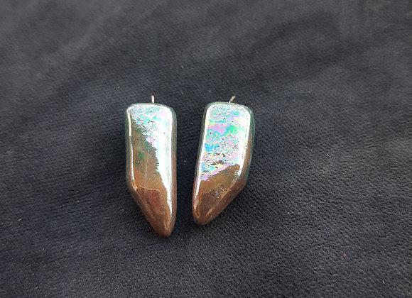 Holographic Effect Crystal Shaped Pendant Beads