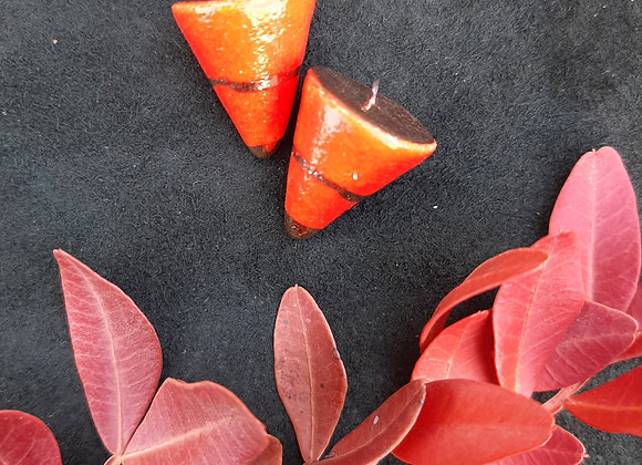 Orange Pendulum Pendant Beads