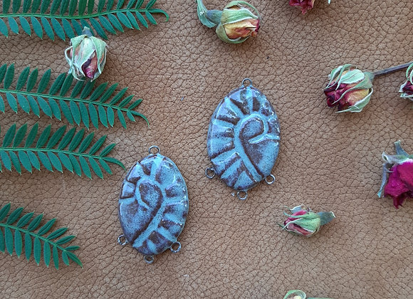 Ceramic Hand Carved Connector Beads