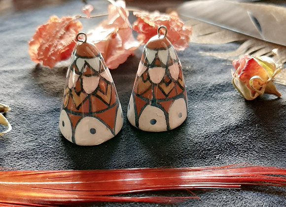 Cone Connector Beads With Native Pattern