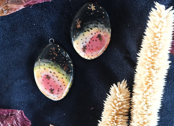 Galaxy Pendant Beads with Gold