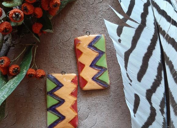Geometric Pattern Rectangular Beads