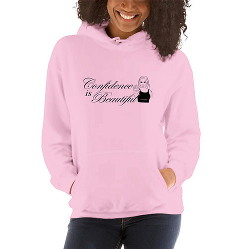 Confidence is Beautiful Ladies' Hooded Sweatshirts
